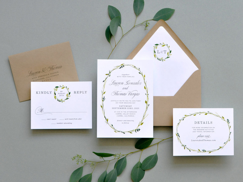 Những mẫu thiệp cưới đơn giản