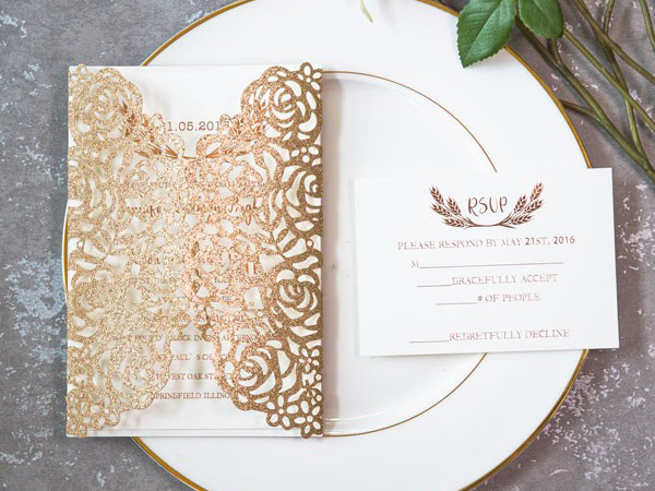 Thiệp đám cưới đơn giản và đẹp