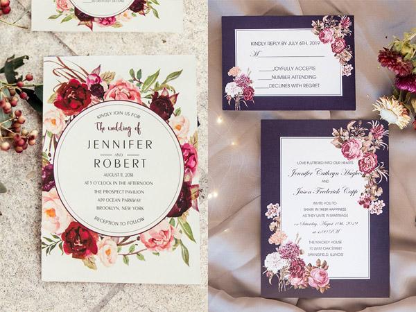 Thiệp mời đám cưới hiện đại và đẹp