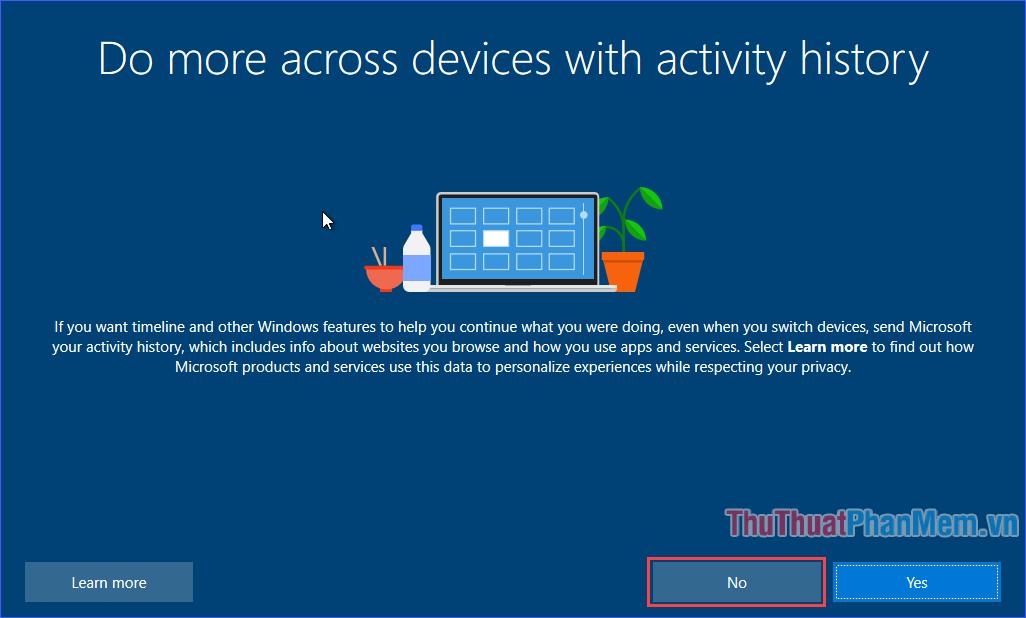 Bạn có muốn gửi lịch sử hoạt động của bạn cho Microsoft để đồng bộ các thiết bị không?