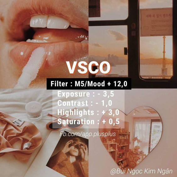 Công thức chỉnh màu VSCO 54