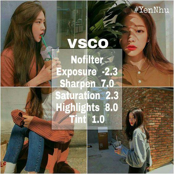 Công thức chỉnh màu VSCO 8
