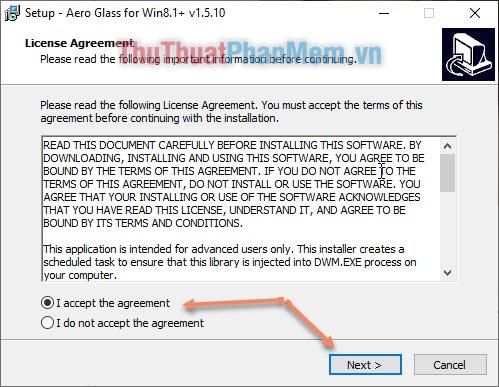 Cài đặt phần mềm Theme Signature Bypass (Aero Glass)