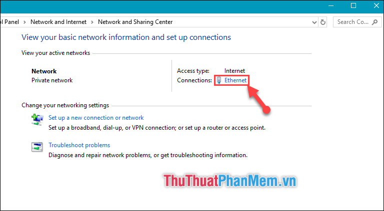 Chọn Ethernet