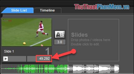 Điều chỉnh thời gian hiển thị Video trong phần mềm