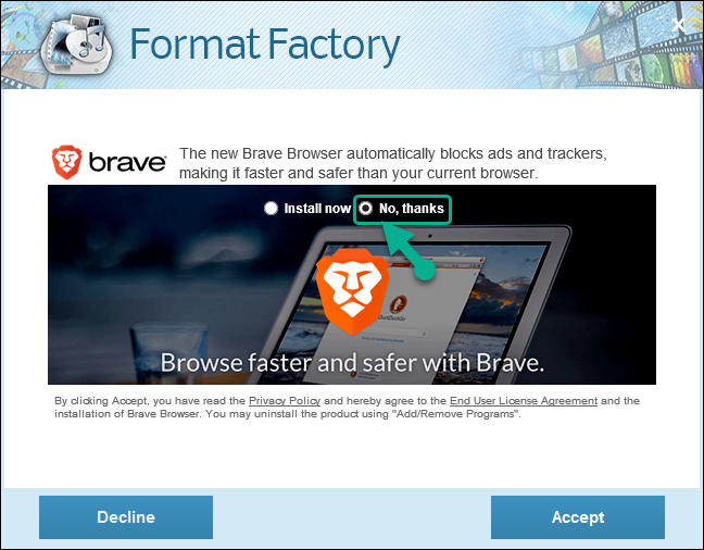 Tải và cài đặt phần mềm Format Factory