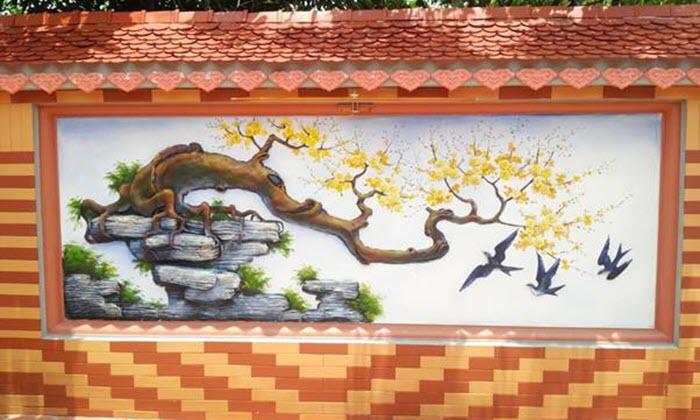 Mẫu tranh tường ngoài trời