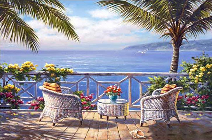 Mẫu tranh tường phong cảnh biển