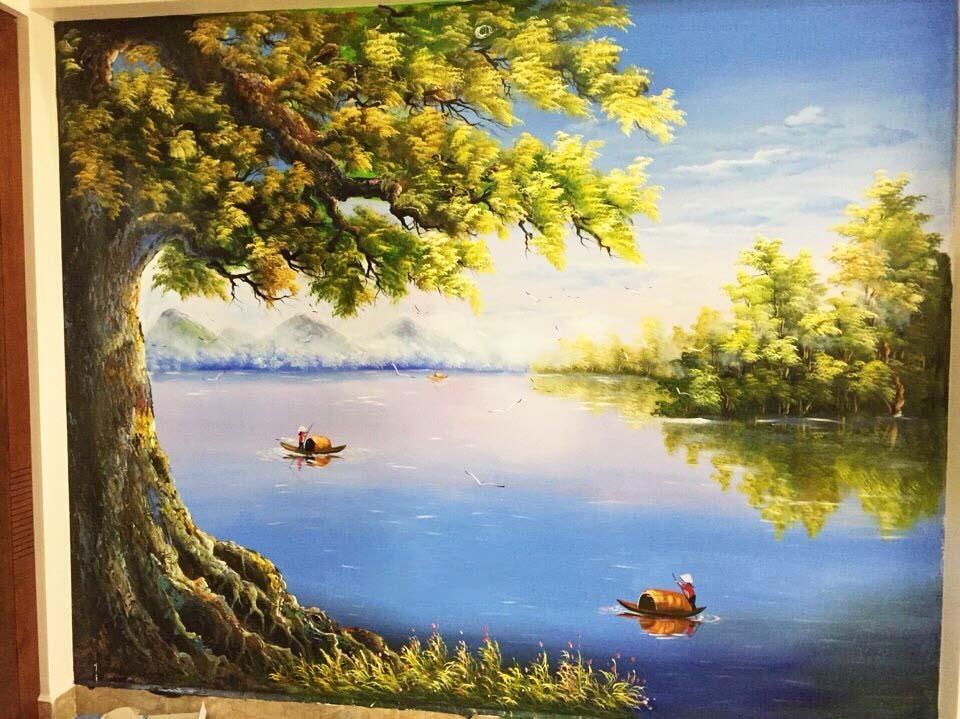 Mẫu tranh tường phong cảnh đẹp
