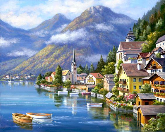 Mẫu tranh tường phong cảnh