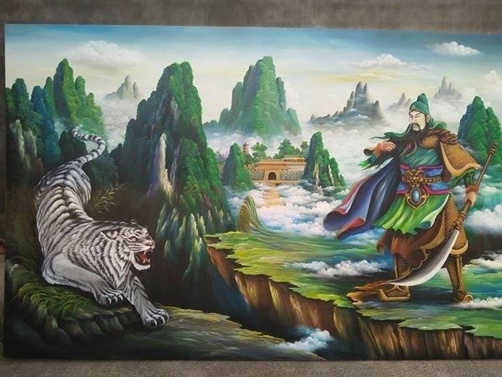 Mẫu tranh vẽ tường phong thuỷ
