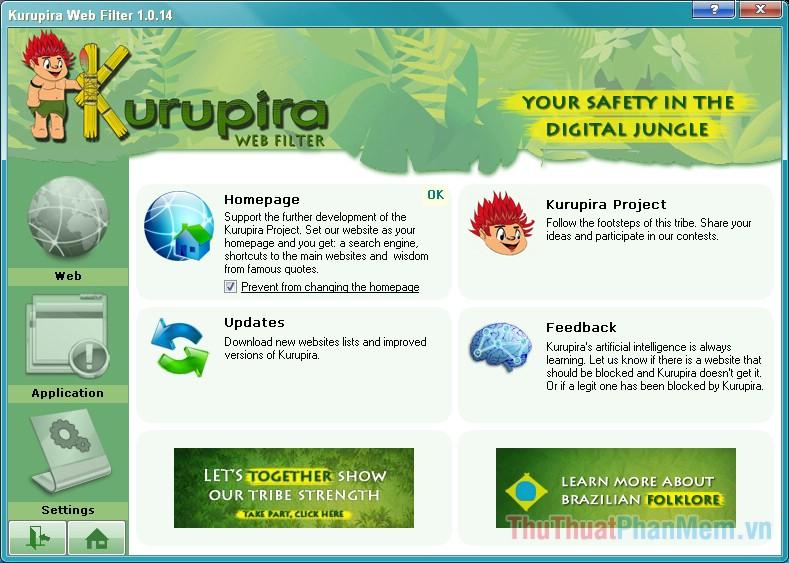 Phần mềm KuruPira WebFilter