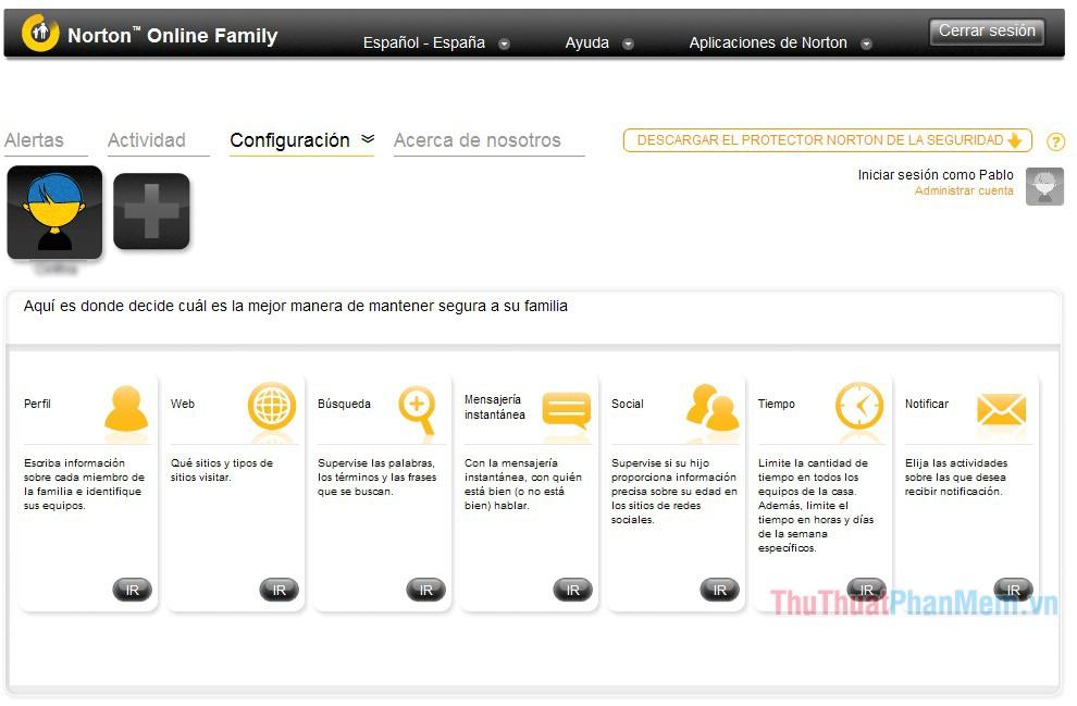 Phần mềm Norton Family