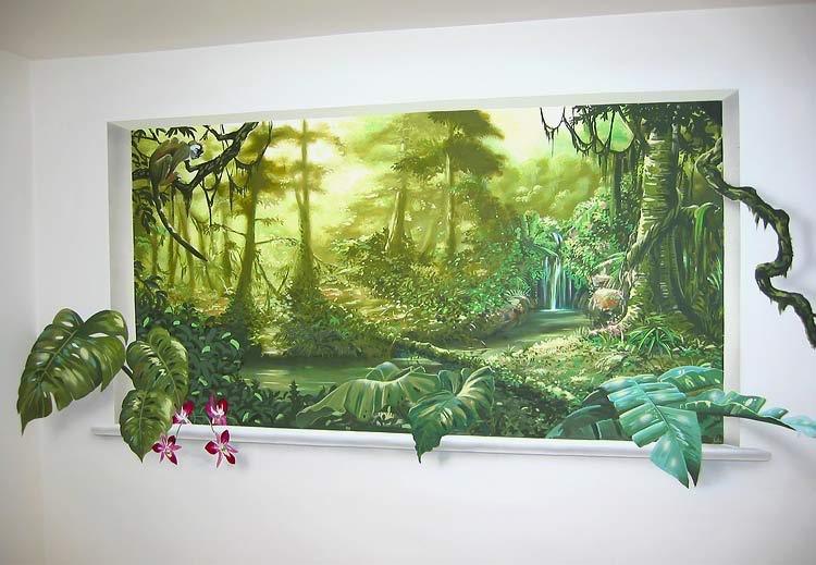Tranh 3D sơn tường đẹp nhất