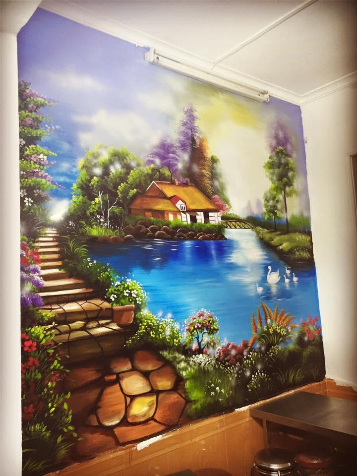 Tranh sơn tường 3d đẹp