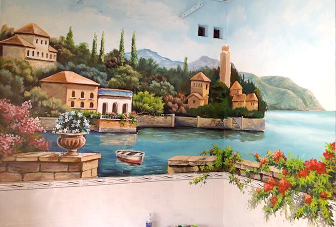 Tranh sơn tường nhà ở đẹp