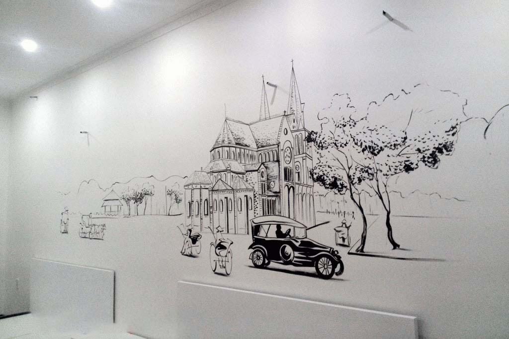Tranh tường đen trắng đẹp