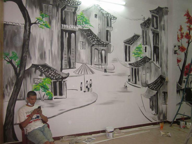 Tranh tường phố cổ Hà Nội