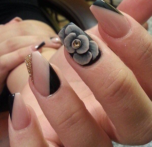 Mẫu nail hoa đẹp