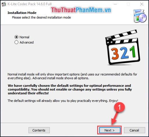 Normal mode là chế độ cài đặt thông thường, Advenced mode là chế độ cài nâng cao hơn