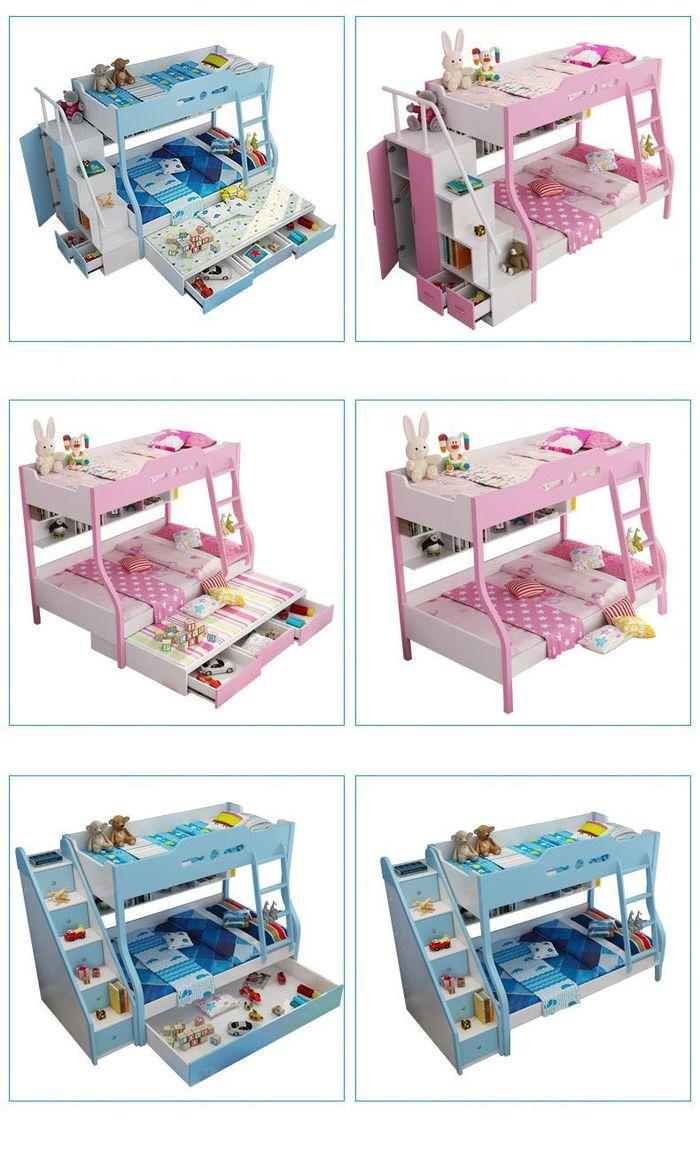 Giường 3 tầng đa năng cho bé có ngăn kéo chứa đồ GTE044 (2)
