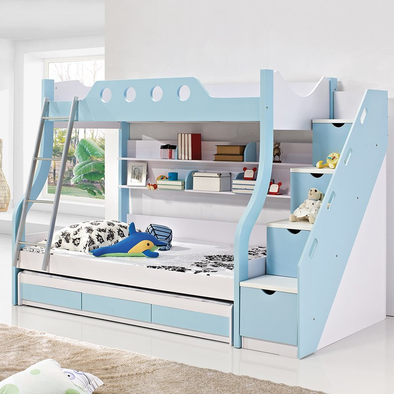Giường tầng cho bé có giường phụ + ngăn kéo chứa đồ GTE074