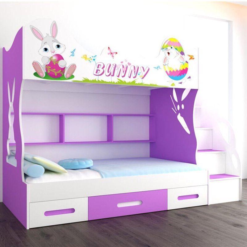 Giường tầng in hình chú thỏ Bunnny dễ thương GTE111