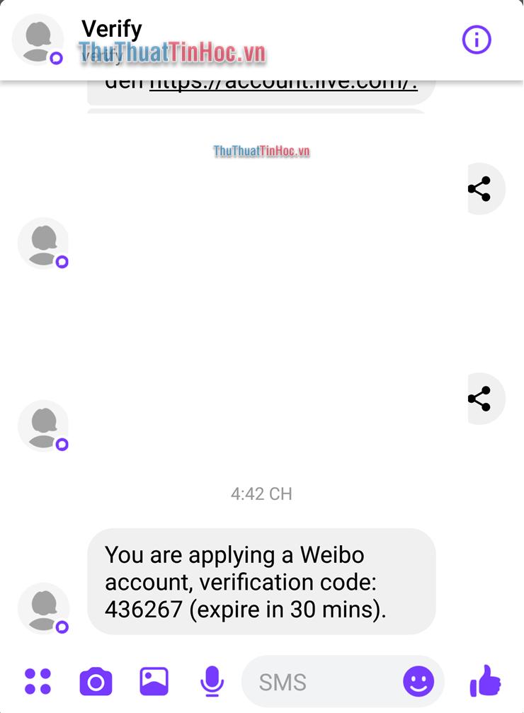 Mã xác thực Weibo có thời hạn 30 phút