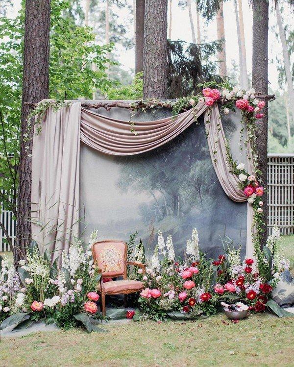 Backdrop đám cưới đẹp và độc đáo