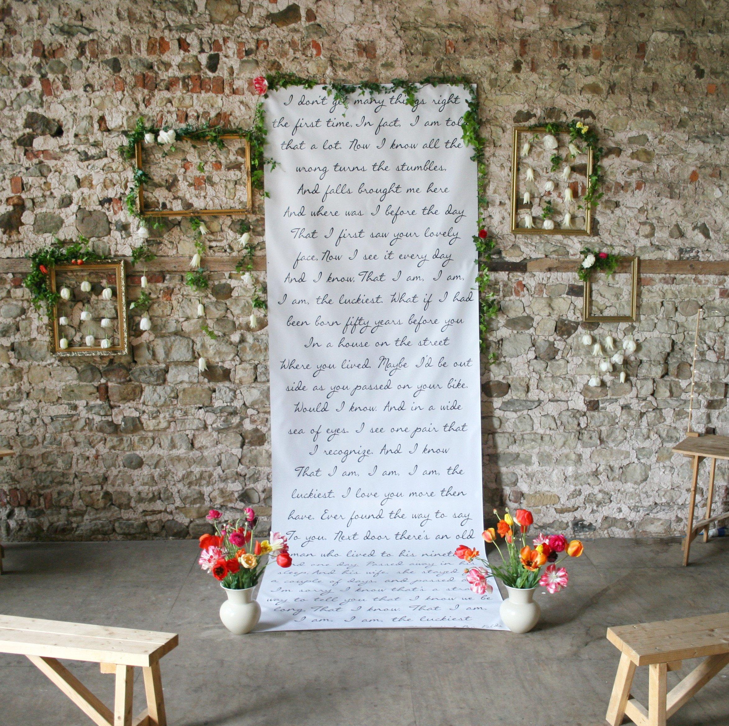 Backdrop đám cưới đẹp