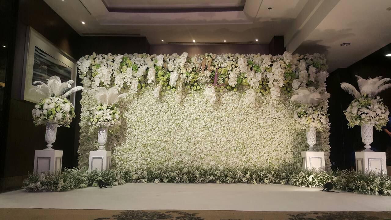 Backdrop trang trí hoa đẹp
