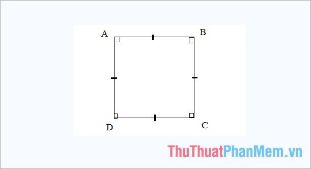Khái niệm hình vuông