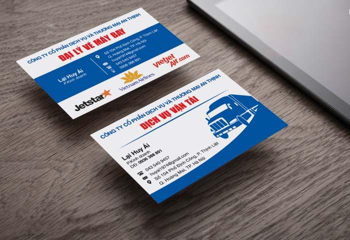 Mẫu card visit dịch vụ đẹp và sang trọng