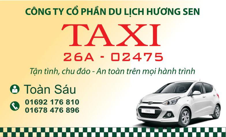 Mẫu card visit taxi đẹp nhất