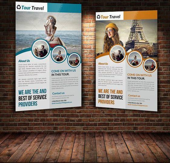 Mẫu tờ rơi quảng cáo tour du lịch