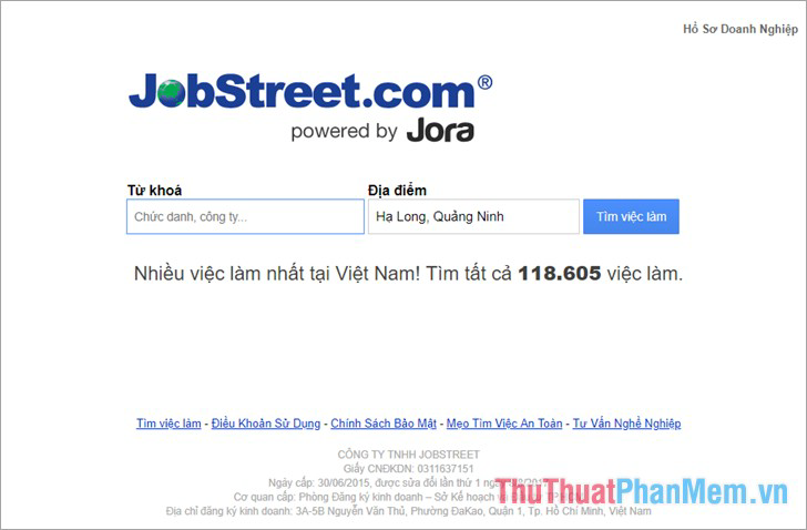 Website Jobstreet.vn