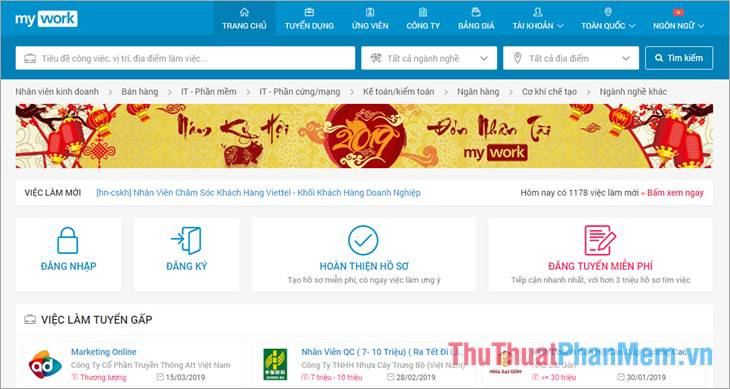 Website Mywork.com.vn