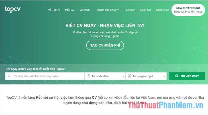 Website Topcv.vn