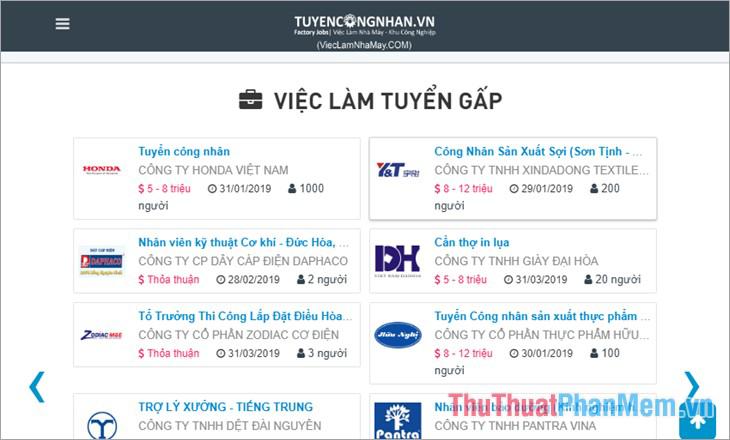 Website Tuyencongnhan.vn