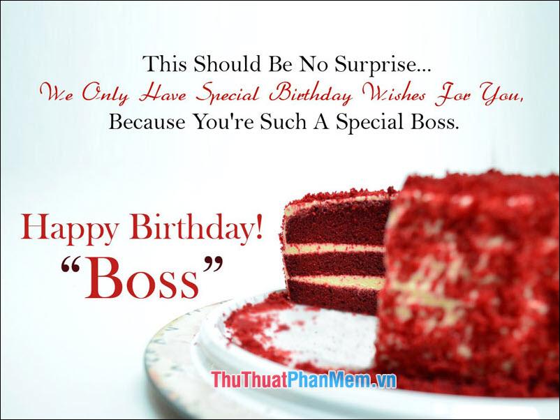 Câu chúc mừng sinh nhật Sếp bằng Tiếng Anh - 1