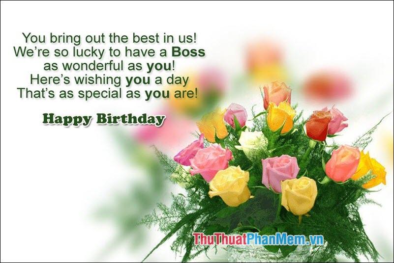 Câu chúc mừng sinh nhật Sếp bằng Tiếng Anh - 2
