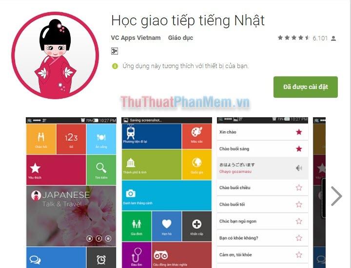 Học giao tiếp tiếng Nhật (VC Apps Vietnam)