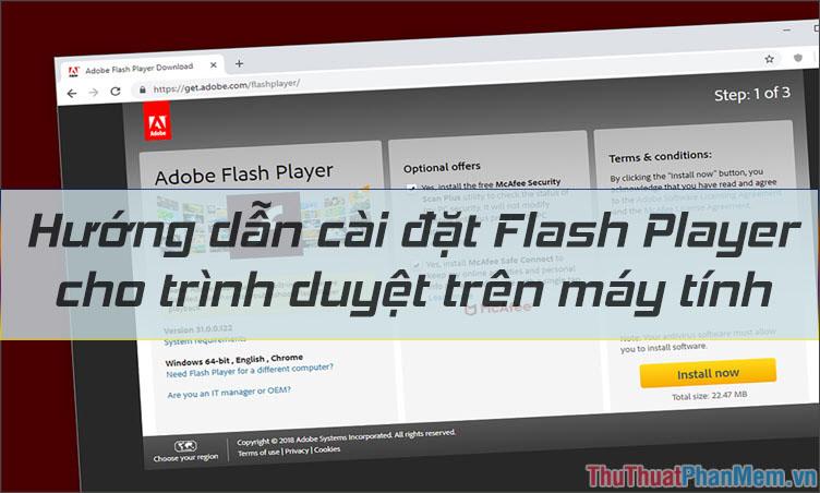 Hướng dẫn cài đặt Flash Player cho trình duyệt trên máy tính