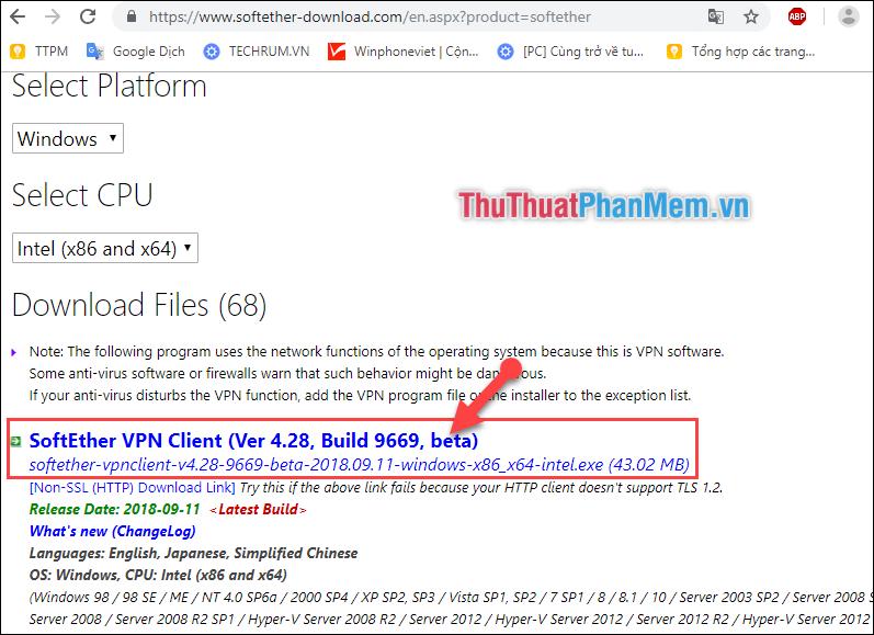 Tải thêm phần mềm SoftEther VPN Client Manager