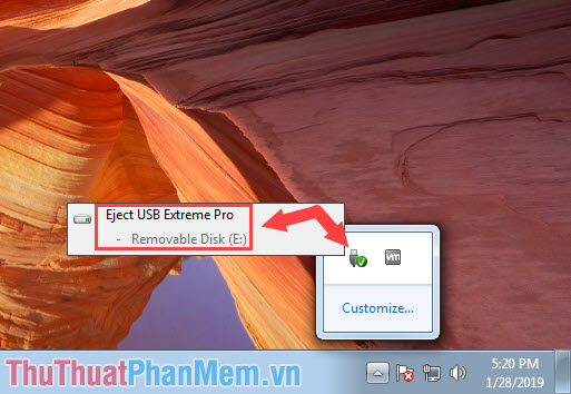 Thoát USB an toàn (Safety Remove Hardware)