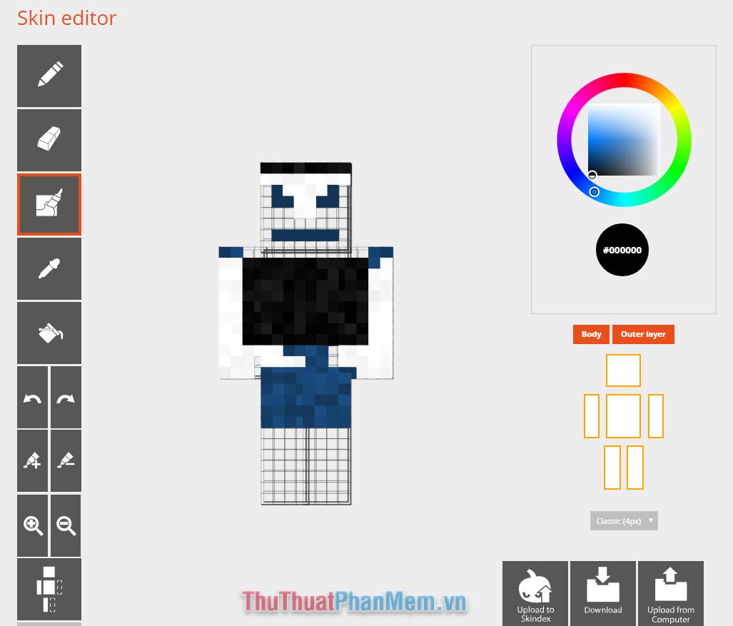 Tự tạo skin Minecraft (1)