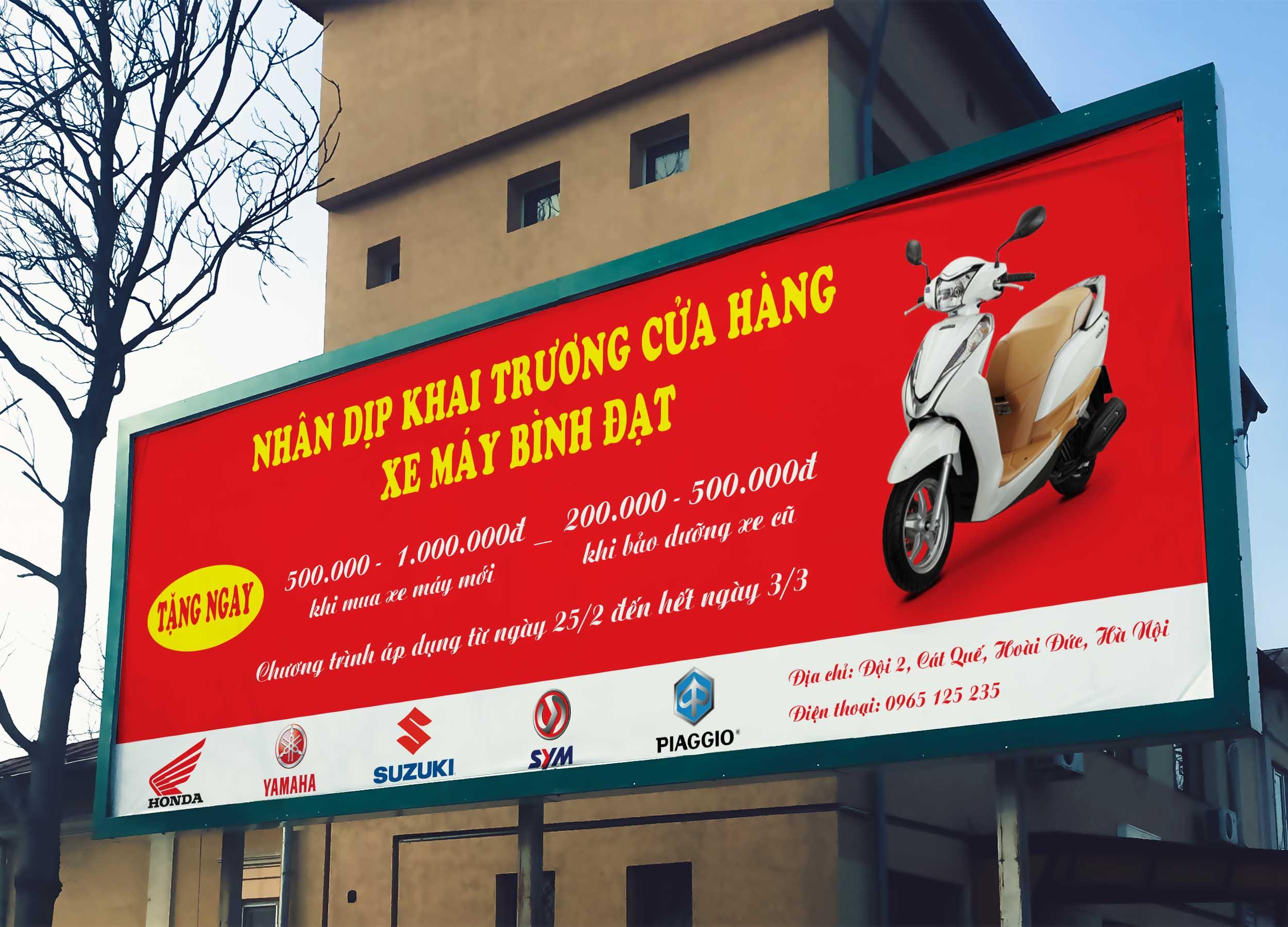 Băng rôn quảng cáo ra mắt