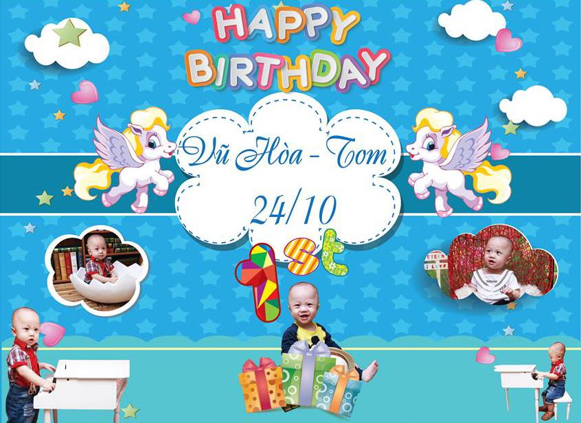 Băng rôn sinh nhật cho bé