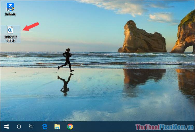File ghi âm ở trên Desktop