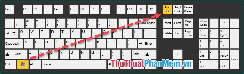 Sử dụng phím tắt Windows + Print